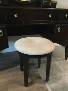 Makeup table with stool