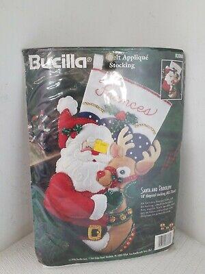 - Bucilla Felt Stocking Kit Santa and Rudolph 18