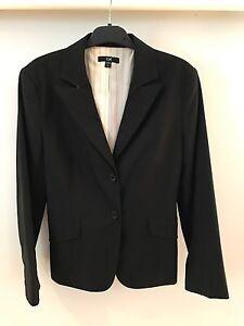 Cue Black Suit Jacket Size 10 Ivanhoe Banyule Area Preview