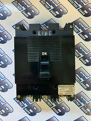 Square D 999320 20 Amp 3 Pole 600 Volt Breaker- Recon Wtest Report Warranty