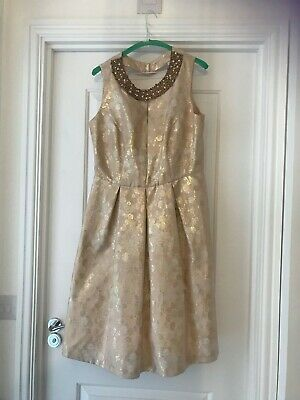 Jenny Packham Rose Gold skater dress
