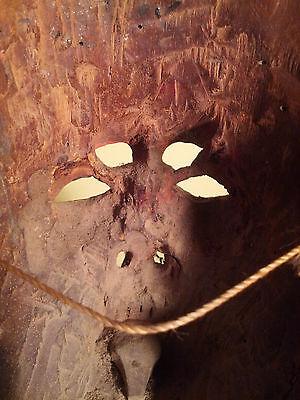 Antique Gold-leafed Guatemalan Dance Mask Alvarado to Portocarrero Conversion
