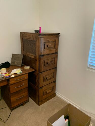 The Barn Furniture Solid Oak Wood 4 Drawer Filing Cabinet **kd9975**