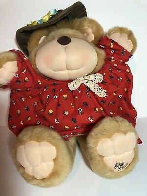 Barefoot Bear Stuffed Animal RARE Dress Hat Excellent Condition