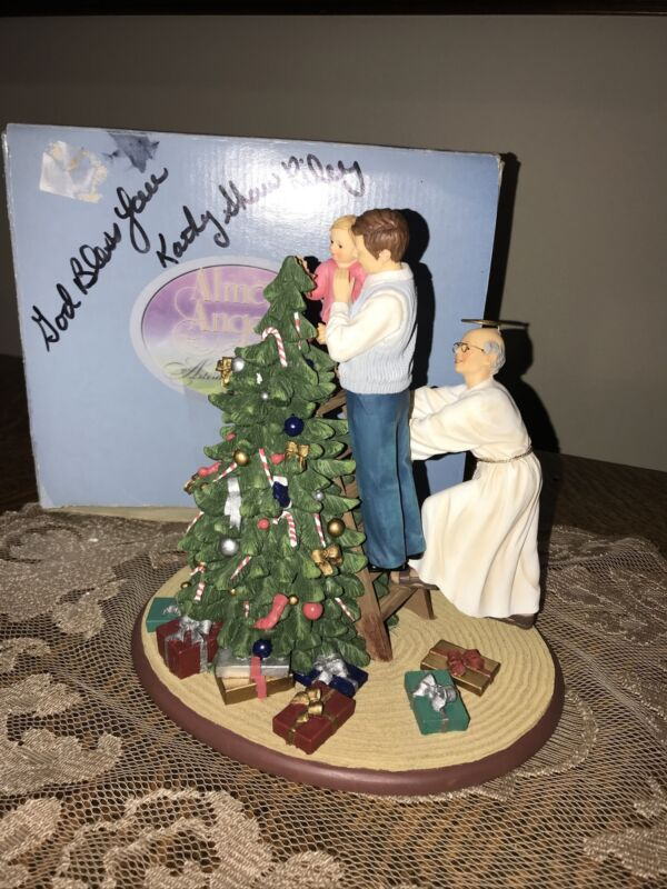 Almost Angels Kathy Shaw Riley Holiday And Under Every Fir Tree Signed 2001 Box