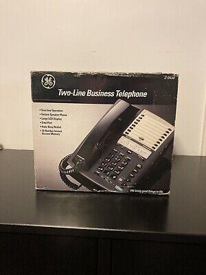 Ge Two Line Business Speaker Telephone Lcd Display 32 Memory 2-9438 Original