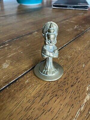 Vintage Antique Brass Egytian King Buddha? 3in 7.5cm high Figurine Statue