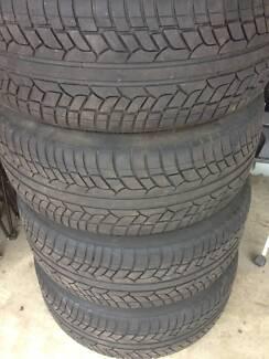 4 x Chrome Avanti 20 Inch Rims & 4 x Achilles UHP Desert Tyres
