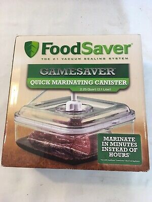 Food Saver Quick Marinating Game Vacuum Sealer Canister Prep Cooking Grilling