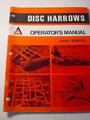 Original 1973 Allis Chalmers Tractor 3000 Ac Disc Harrows Manual 2087069