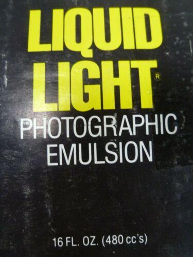Vintage 1999 Rockland Colloid Liquid Light  - Black  White Photo Transfer 16oz
