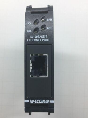 HO-ECOM100 10/100Base-T (RJ45) Ethernet Communication Module for DL05/DL06 PLCs.