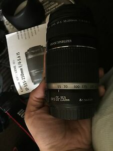 Canon EF-S 55-250mm f/4-5.6IS lens