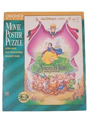 Disney's Snow White 300 Piece Movie Poster Golden Puzzle Vintage 1990's NEW