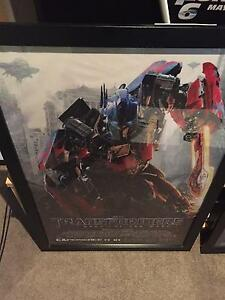 Transformers Dark of the Moon poster framed Wallsend Newcastle Area Preview