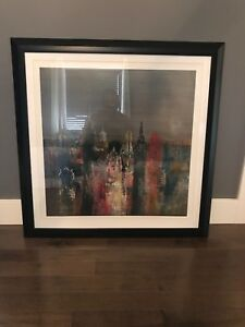3 x 3 framed photo/painting