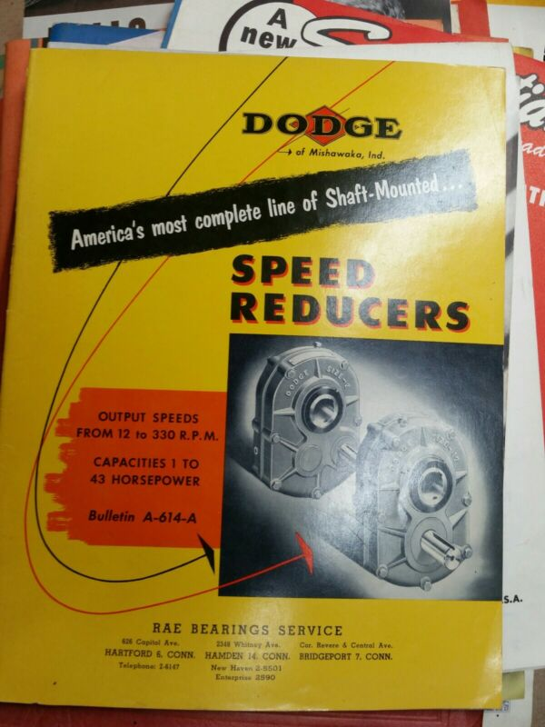 Dodge  Speed Reducer  Catalog  1952