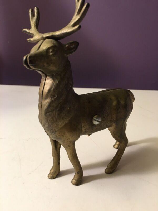 Antique Cast Iron Deer Bank