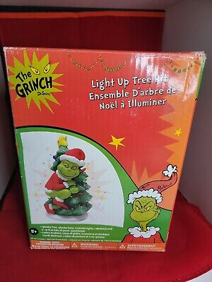 The Grinch Dr Seuss Light Up Christmas Tree Kit Ceramic Paint It Yourself craft