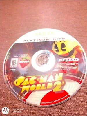 Microsoft OG Xbox Disc Only Tested Pac-Man World 2 Platinum Hits Namco