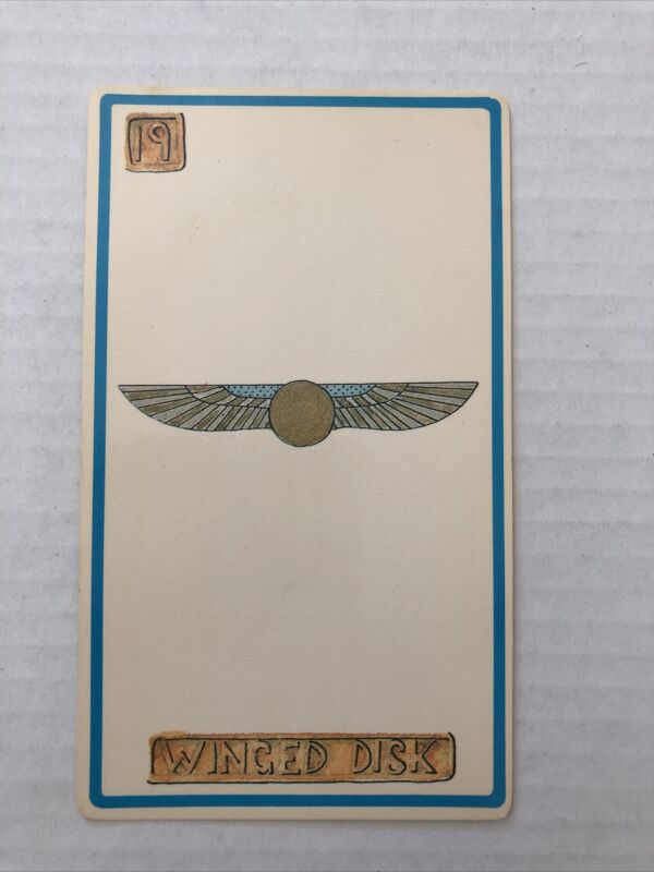 Cartouche Winged Disk Card 19 Single Card Only No Box