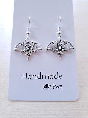 Fledermaus Für Halloween (Fledermaus Ohrringe ♥ für Karneval oder Halloween ♥ Handgefertigter Schmuck)