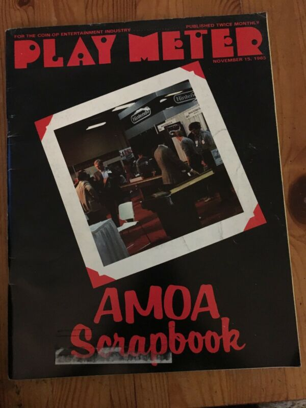 Play Meter Magazine November 15, 1985- AMOA Scrapbook - Ad for Mat Mania on back