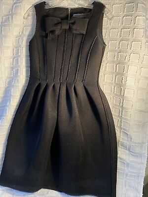 Mimisol Girls Black Bow Dress Sz 14 Italy NWOT