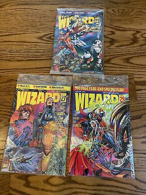 Guide to Comics WIZARD Lot #23, 27, 29 1993-94 Sealed Bag w/ limited ed. cards