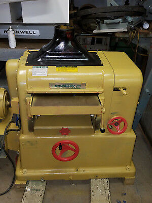18 Powermatic Usa Planer Mdl 180 With New Byrd Cutterhead Bearings 7-12 Hp