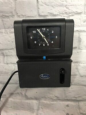 Lathem 4001 Time Clock Works Great Heavy Duty Time Recorder Missing Key Sfc