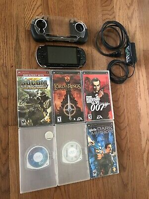 Sony PSP 1000 PlayStation Portable Console 1001 + Charger + 6 Games + Case
