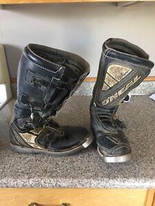 O'Neal dirt biking boots size 7
