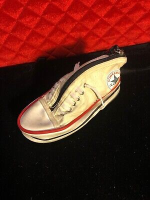 Vintage Converse All Star Chuck Taylor Sneaker Shoe Large Keychain WHITE