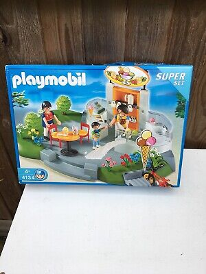 Playmobil Ice cream parlour shop 4134 Superset 95% Complete.