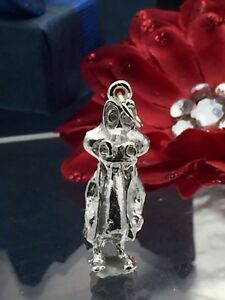 New! Sterling silver alligator in suit pendant charm