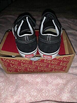 Black Infant Size 9 Van Trainers
