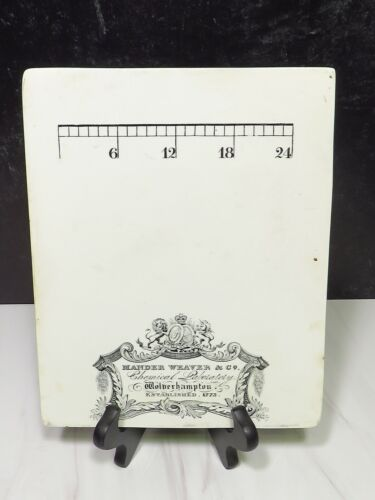 19c Advertising Pill Porcelain Tile MANDER WEAVER Co Chemical Laboratory Measure