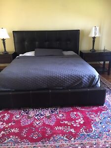 Thomasville bed frame and TEMPUR PEDIC mattress for sale
