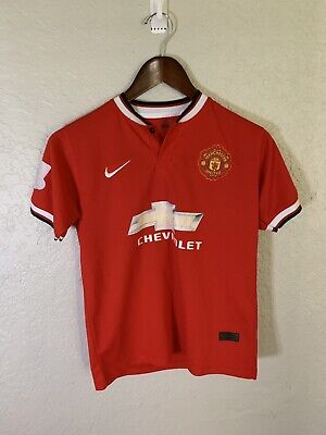 3a86500943f Nike DiMaria Manchester United  7 Chevrolet Soccer Jersey Youth Size 14 B17