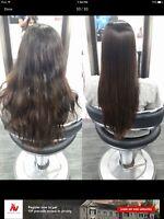 Pin straight hairs permanent Japanese straightening Rebonding