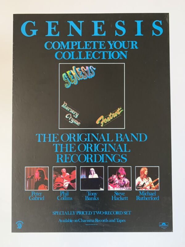"""Original Genesis Complete Your Collection Promotional Rock Poster 20.5"""" x 28"""""""