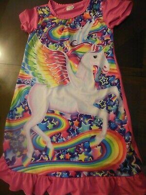 Pink Nightgown Girls (Little Girls Unicorn Nightgown, Sz 9-10 (140), Hot Pink)