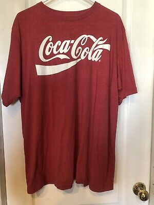 Coca Cola Mens XL  Red T-Shirt Graphic Classic Logo, 2008