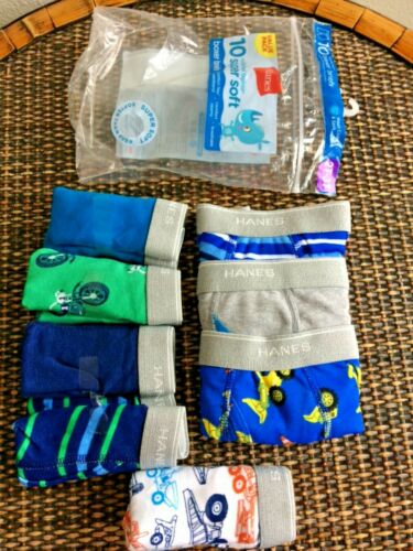 Hanes  sz 2T-3T Toddler Boys Pack Of 8 Boxer Briefs Assort Colors Super Soft