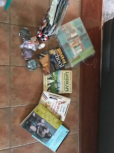 Scrapbooking kit and books for drawing