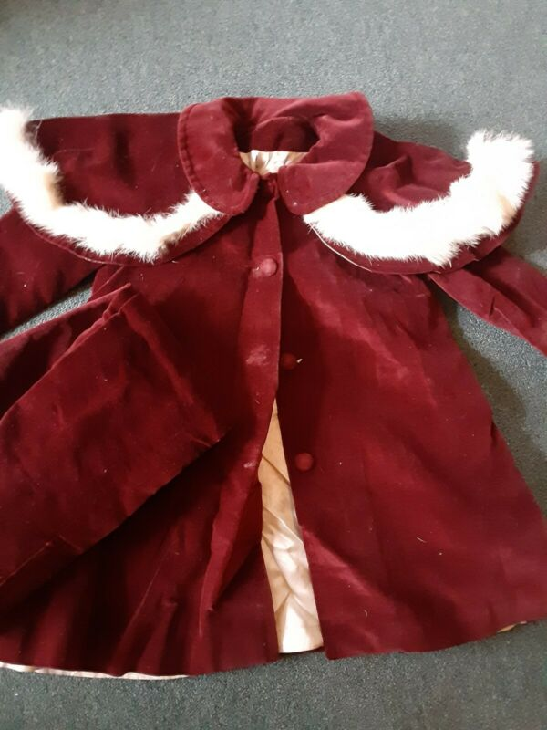 Vtg. Dress Coat Girls Sz 3-4 & Snowpants