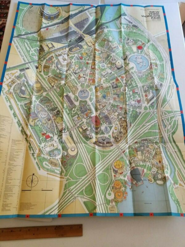 Gigantic Official Souvenir Map New York World