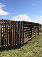 Free Standing Corral Panels and feeders
