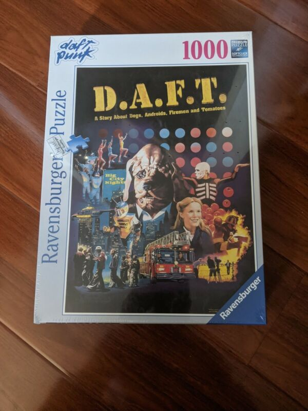 OFFICIAL DAFT PUNK D.A.F.T. RAVENSBURGER PUZZLE LIMITED EDITION - BRAND NEW